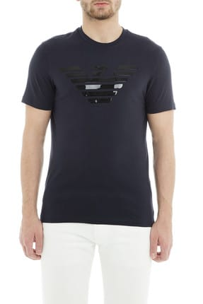 Emporio Armani Lacivert Erkek T-Shirt