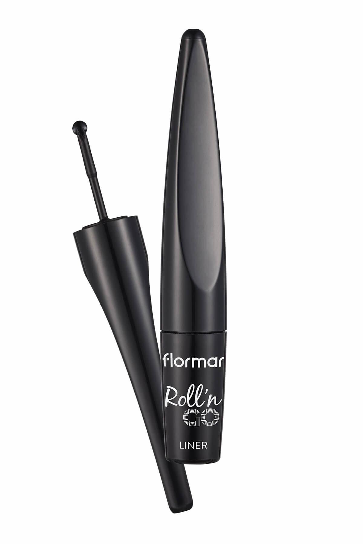 Flormar Disk Uçlu Eyeliner - Roll'n Go Liner Black 8690604545230 1