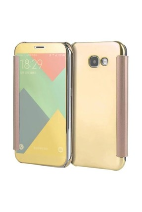 Eiroo Mirror Cover Samsung Galaxy J7 Prime Aynalı Kapaklı Gold Kılıf