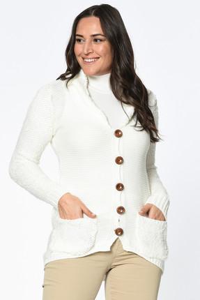 Lir Kadın Ekru Triko Ceket TRK-1002