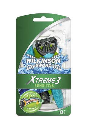 Wilkinson Xtreme 3 - Oynar Başlıklı Kullan At Tıraş Bıçağı 8'Li Paket
