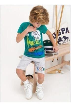 U.S. Polo Assn. Erkek Çocuk Yeşil Takım 813-4