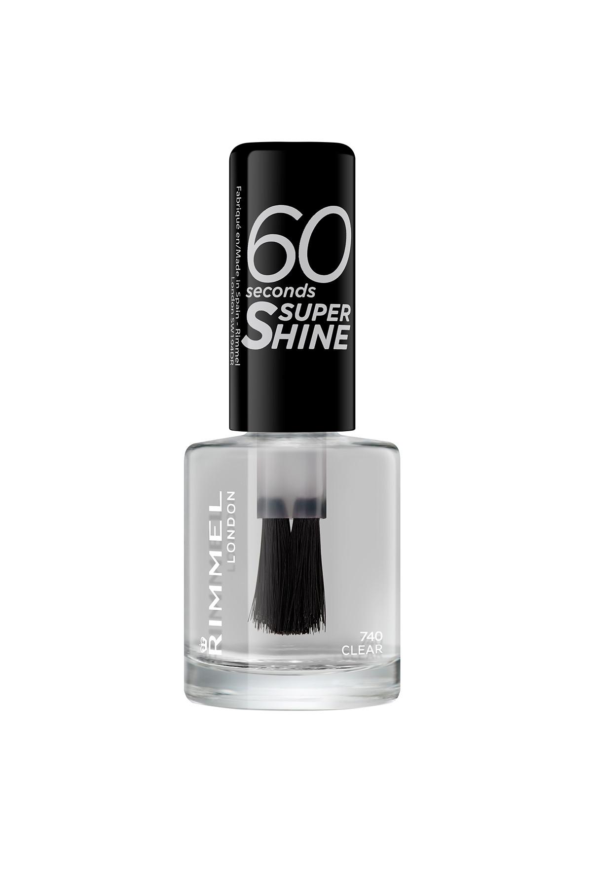 RIMMEL LONDON Oje - 60 Seconds Super Shine 740 Clear 3614220617183 1