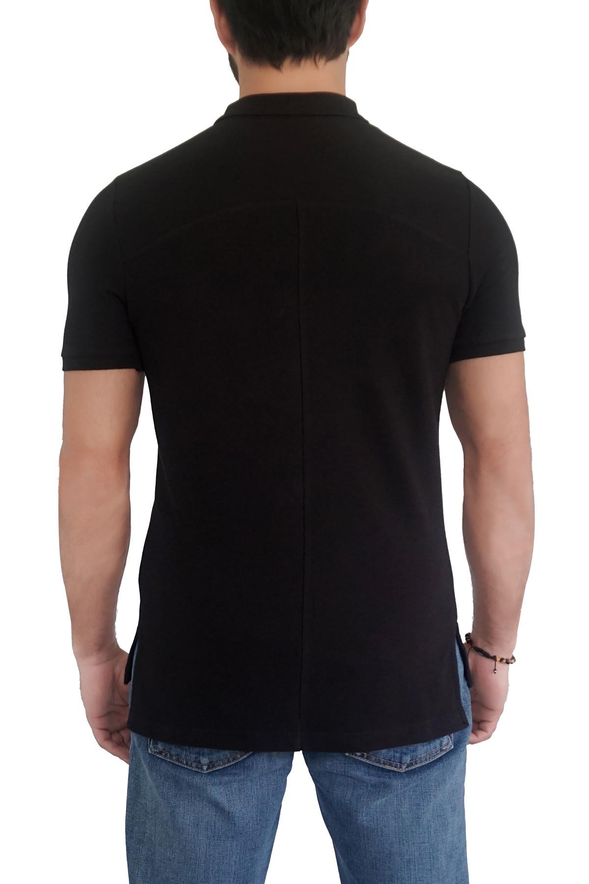 MOF Erkek Siyah T-Shirt POLO-S 2