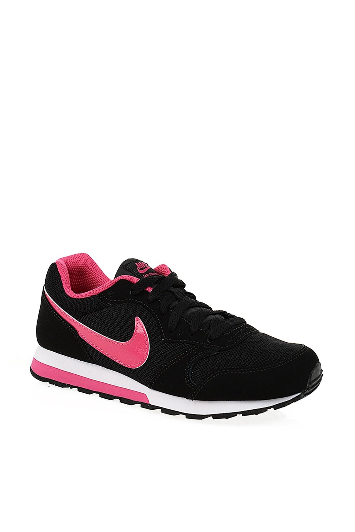 Nike Kids Siyah Pembe Kız Ayakkabı Md Runner 2 (Gs) YA - 807319-005 1