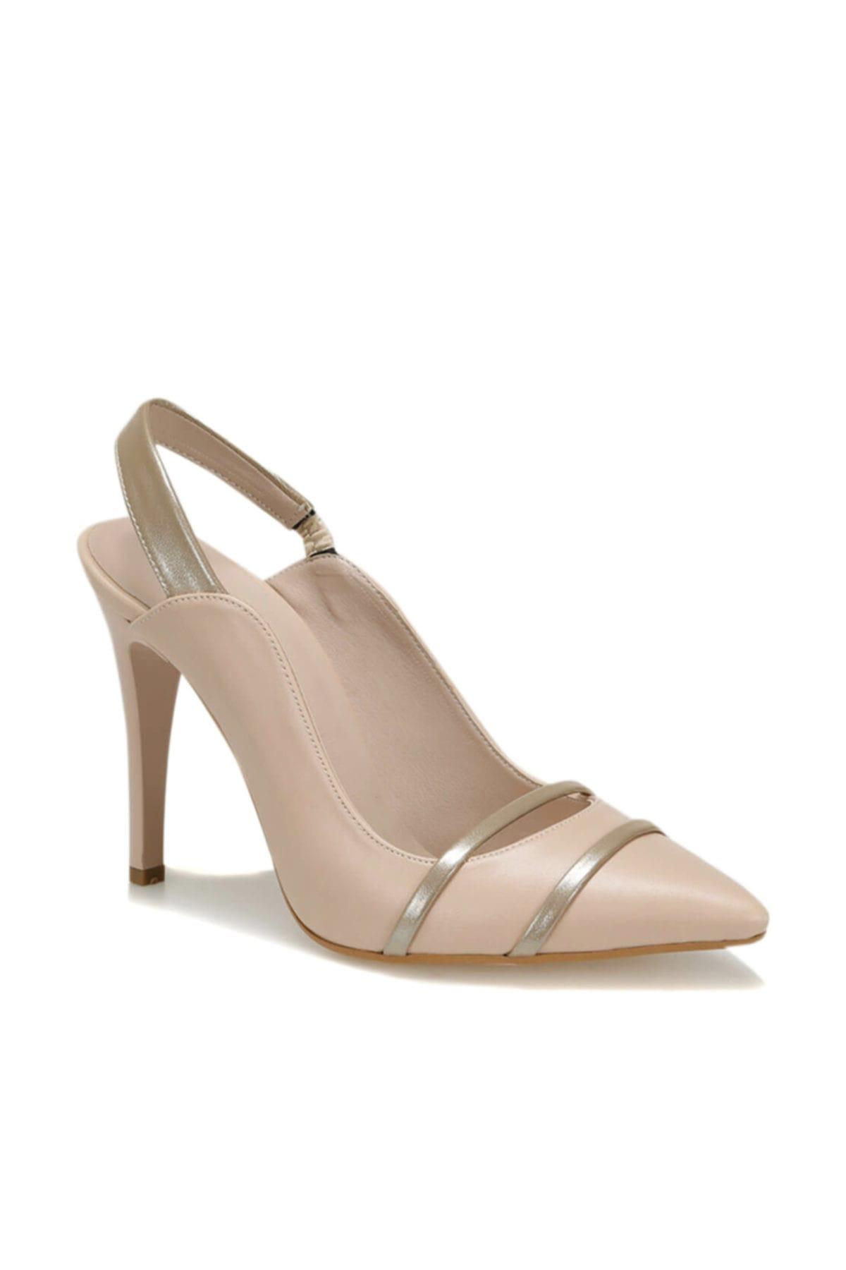 Butigo 19s-034 Bej Kadın Topuklu Ayakkabı 100371384 1
