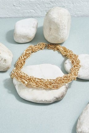 ZİNDİ Kadın Bijuteri  Kolye Altın Rengi K-3051030-415