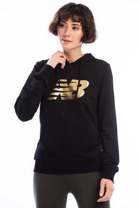New Balance Kadın Sweatshirt - V-WTH804-BKW