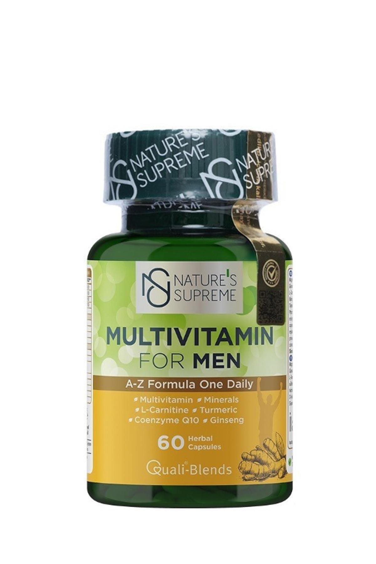 Nature's Supreme Multivitamin For Men 60 Kapsül 1