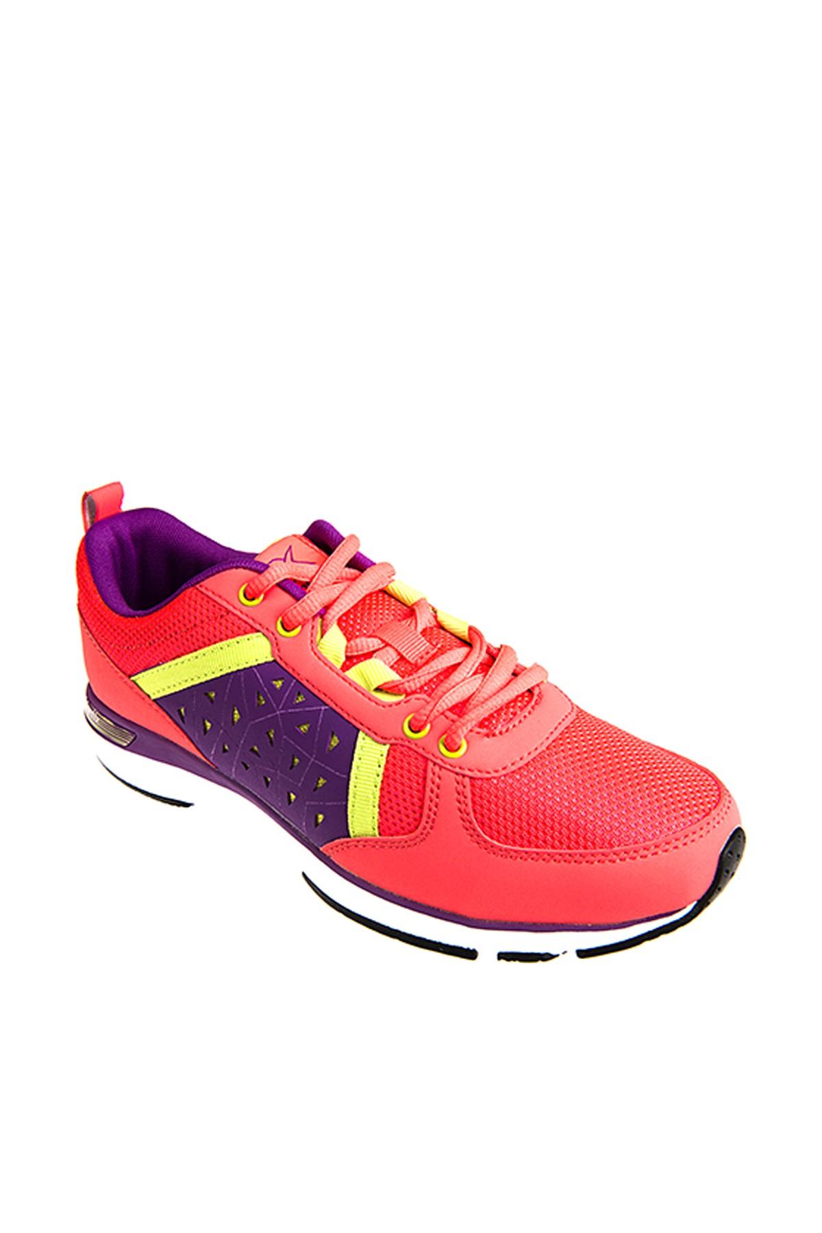 Kinetix 1235346 Pembe Mor Yeşil Kadın Fitness Ayakkabısı 100180967 2