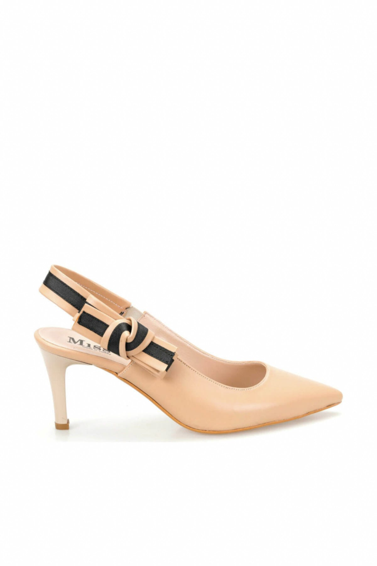 Miss F Ds19074 Bej Kadın Topuklu Ayakkabı 100382790 2