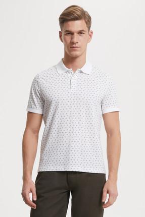 Lee Cooper Erkek Nature Polo Yaka Baskılı Pike T-Shirt 192 LCM 242006