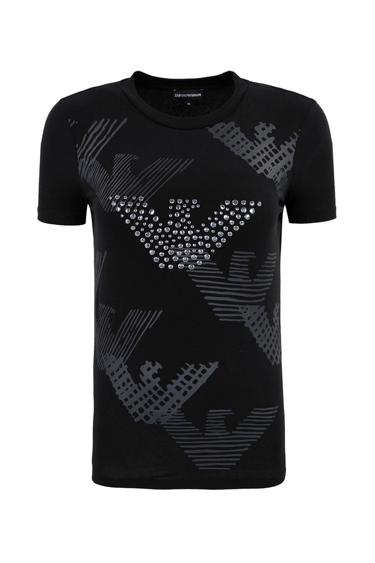 Emporio Armani Siyah Kadın T-Shirt 1