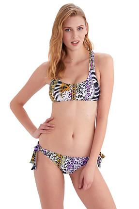 AYYILDIZ Kadın Lila Örgü Detaylı Bikini Takımı