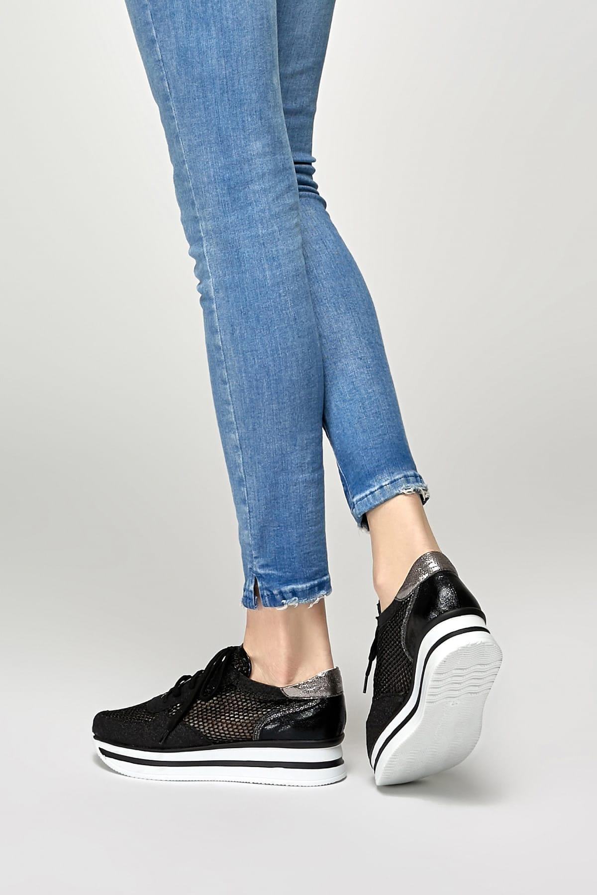 Butigo 19S-003 Siyah Kadın Sneaker Ayakkabı 100372600 2