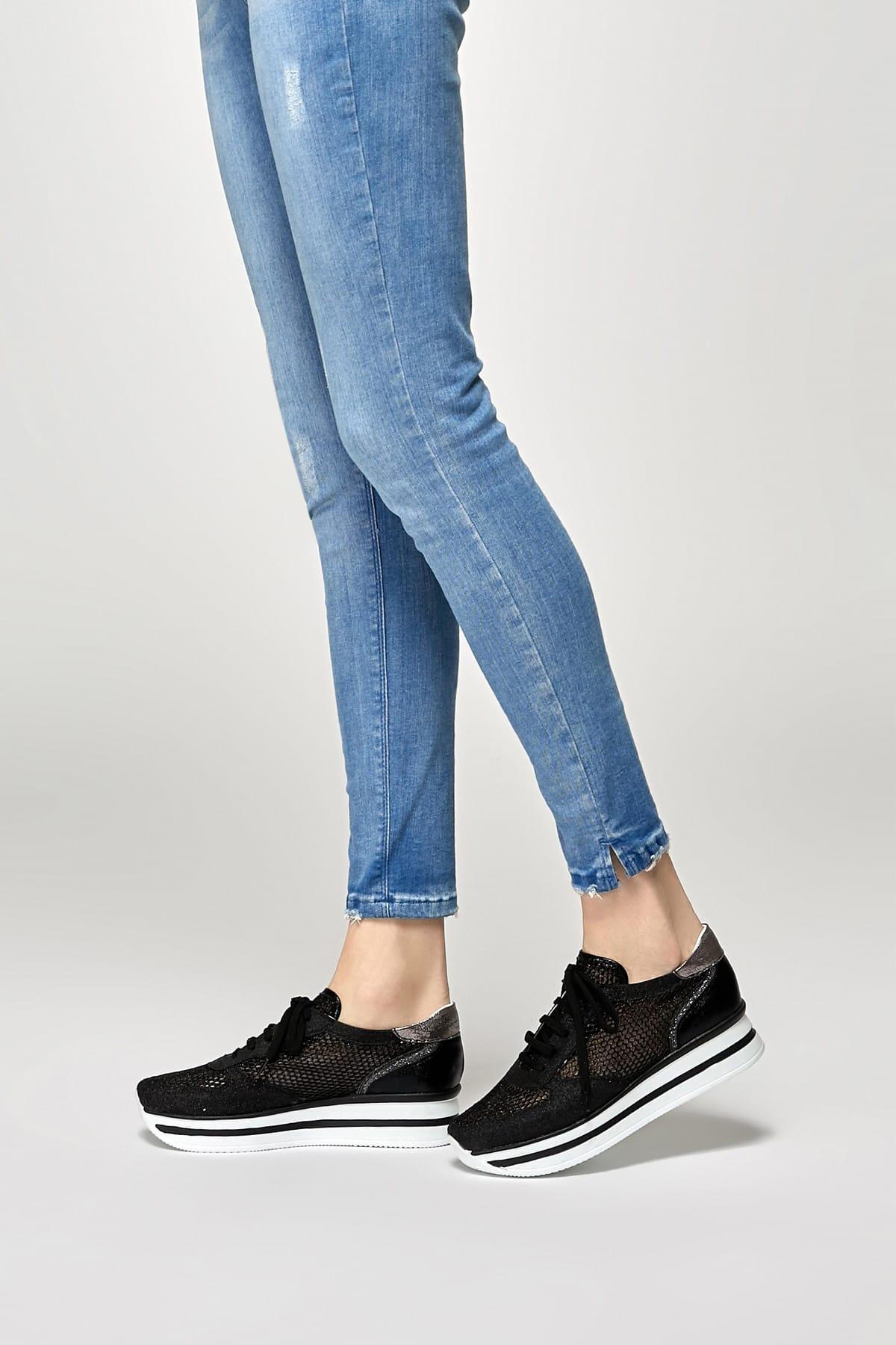 Butigo 19S-003 Siyah Kadın Sneaker Ayakkabı 100372600 1