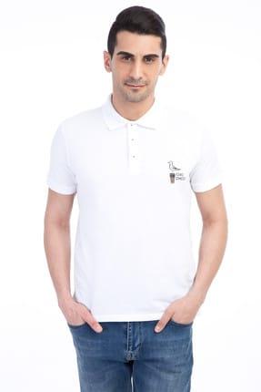 Kiğılı Erkek Beyaz Polo Yaka Tasarım R.Fıt - 65194