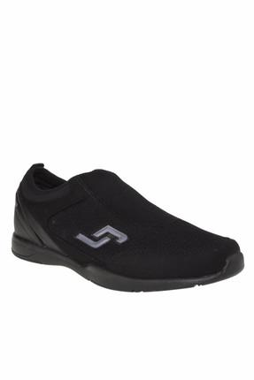 Jump Erkek Siyah Bağcıksız Fileli Spor Ayakkabı 19237