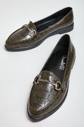 Bambi Haki Kadın Loafer Ayakkabı M06411500