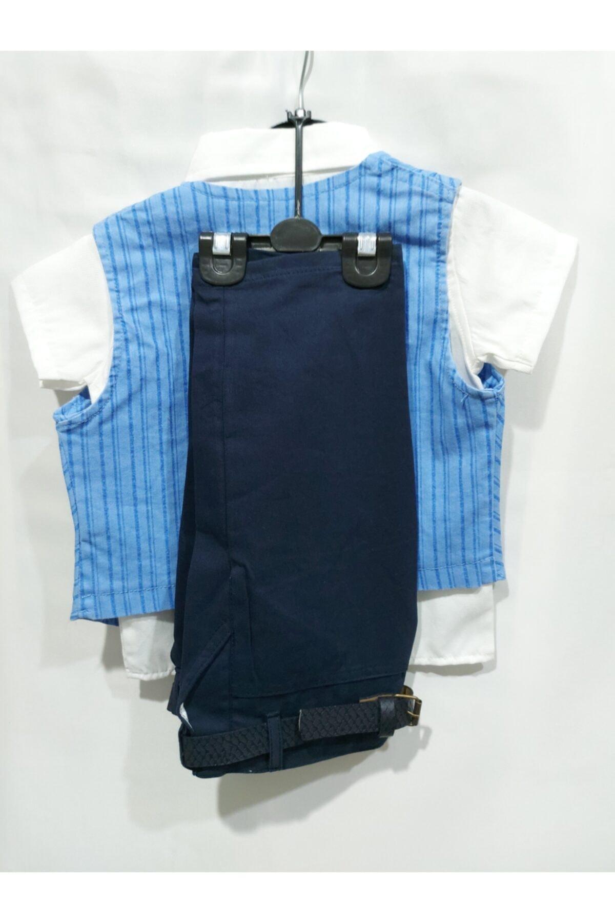 Tekcan Erkek Çocuk Mavi Takım Elbise 2