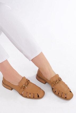 Marjin Kadın Camel Loafer Ayakkabı Jenay