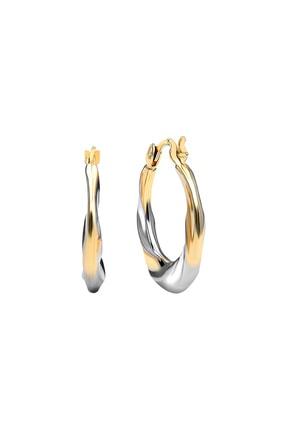 Gelin Pırlanta Kadın 14 Ayar Altın Halka Küpe (1.8 cm) GLN300065