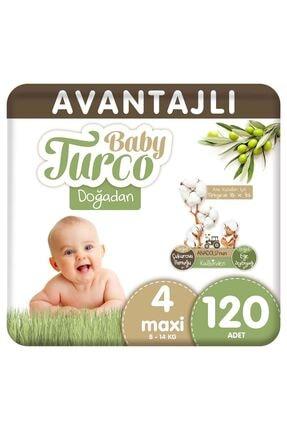 Baby Turco Doğadan Avantajlı Bebek Bezi 4 Numara Maxi 120 Adet