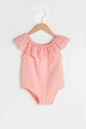 LC Waikiki Kız Bebek Pembe G5T Bebek Body & Zıbın