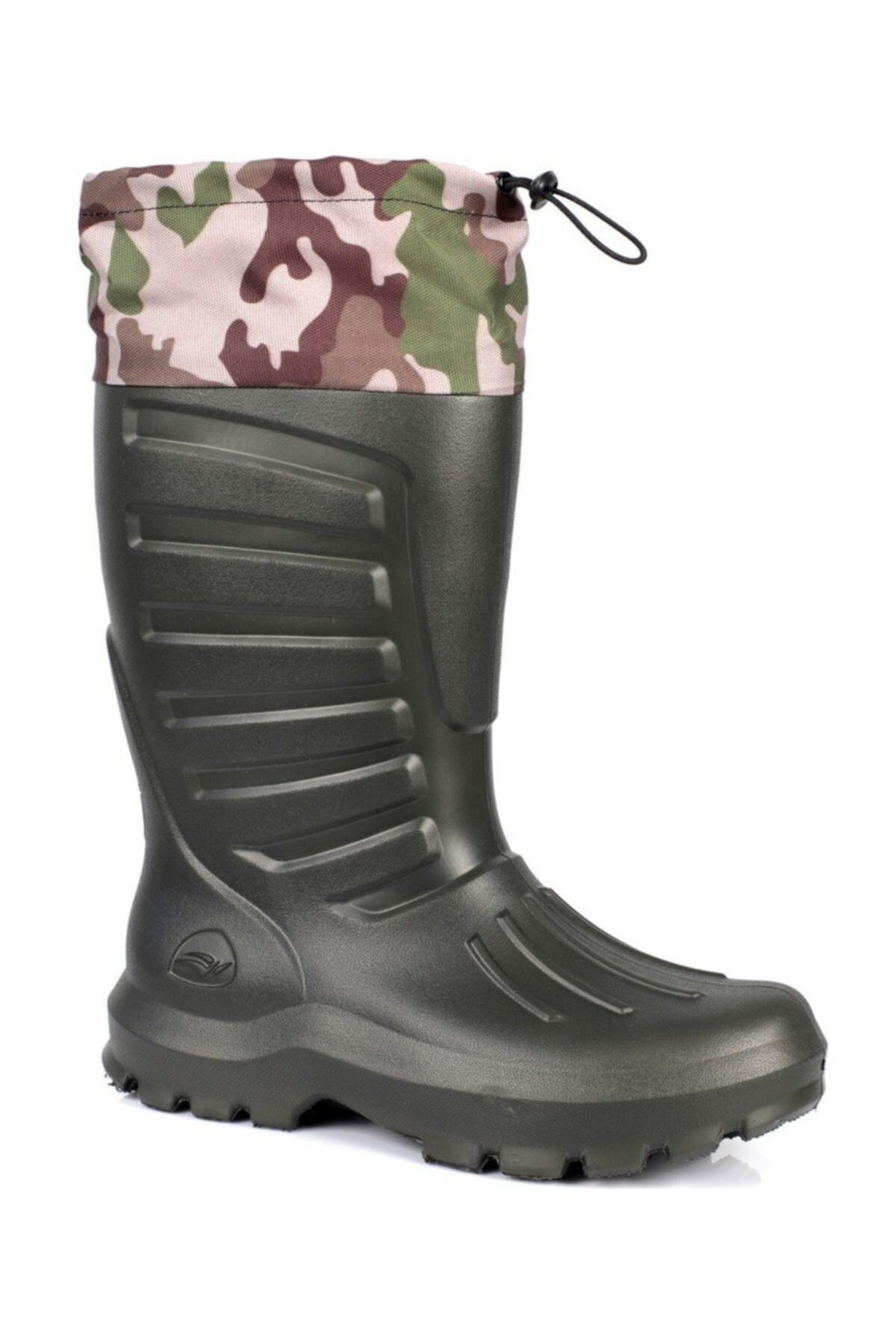 Sonimix Unisex Haki Konçlu Çoraplı Çizme H 1