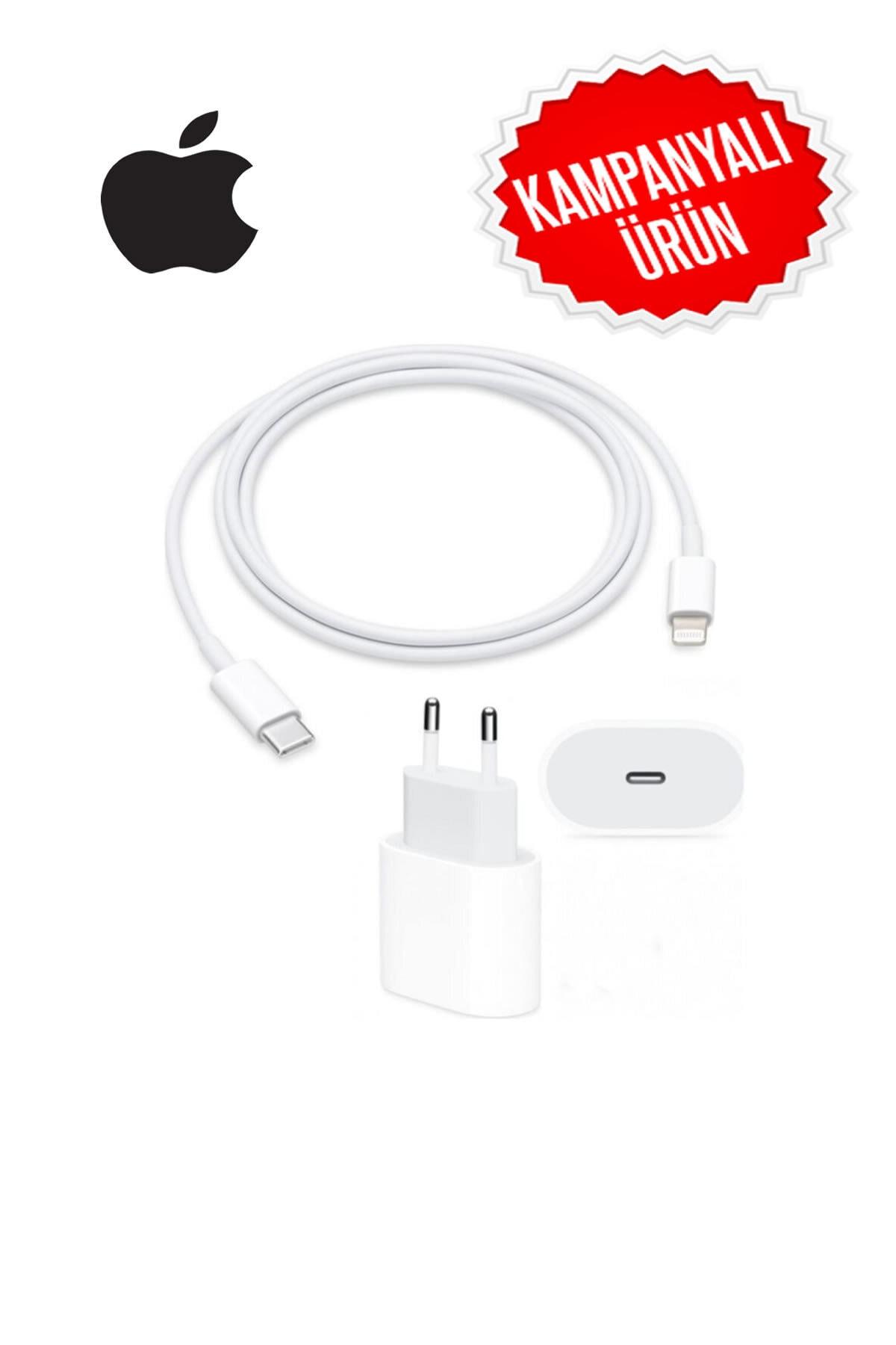Appleline Macbook Ipad Iphone 11 / 12 - Pro Max Mini Uyumlu 20w Adaptör Kablo Usb-c Pd Hızlı Şarj Aleti 2