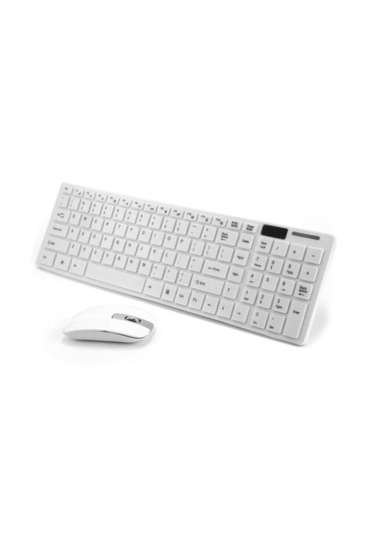 Platoon Klavye Mouse Set Wireless Ultra Ince Beyaz Pl-374 1