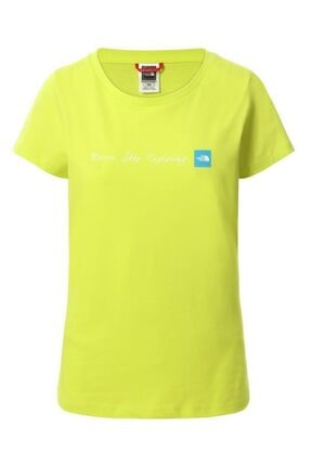 THE NORTH FACE Kadın  Sulphur Spring Green Baskılı Never Stop Exploring Kısa Kol T-Shirt
