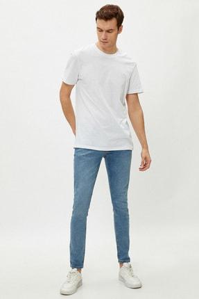 Koton Erkek Açık İndigo Pantolon 1Yam43559Md