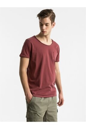 Ltb Erkek Bordo Kısa Kollu T-Shirt