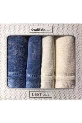 Özdilek Serene Best Set (hamam Takımı) Krem - Mavi