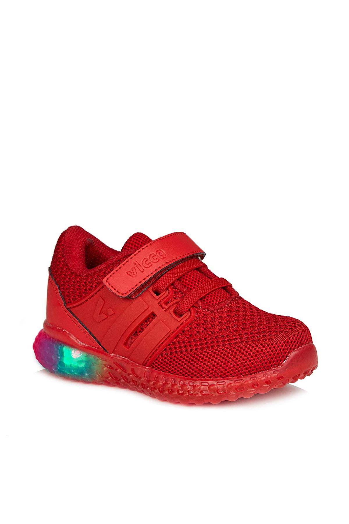 Vicco Flash Unisex Çocuk Kırmızı Spor Ayakkabı 1