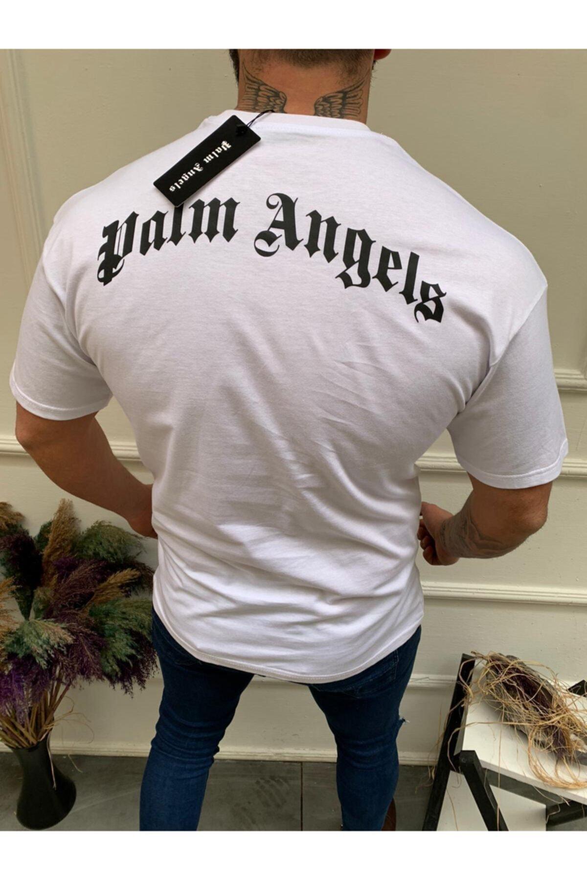 JACKS MAN Beyaz Palm Angels Oversize T-shirt (COFFEE) 2