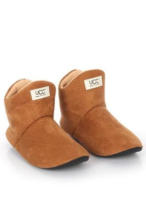 UCC Unisex Taba Içi Yünlü Ev Pandufu Ev Botu Ev Ayakkabısı