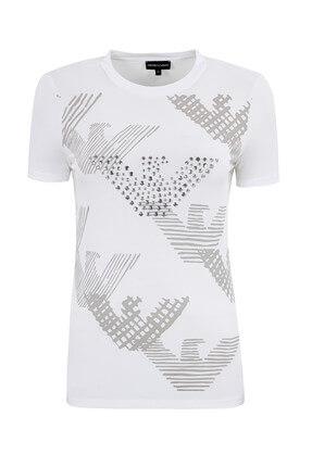 Emporio Armani Beyaz Kadın T-Shirt