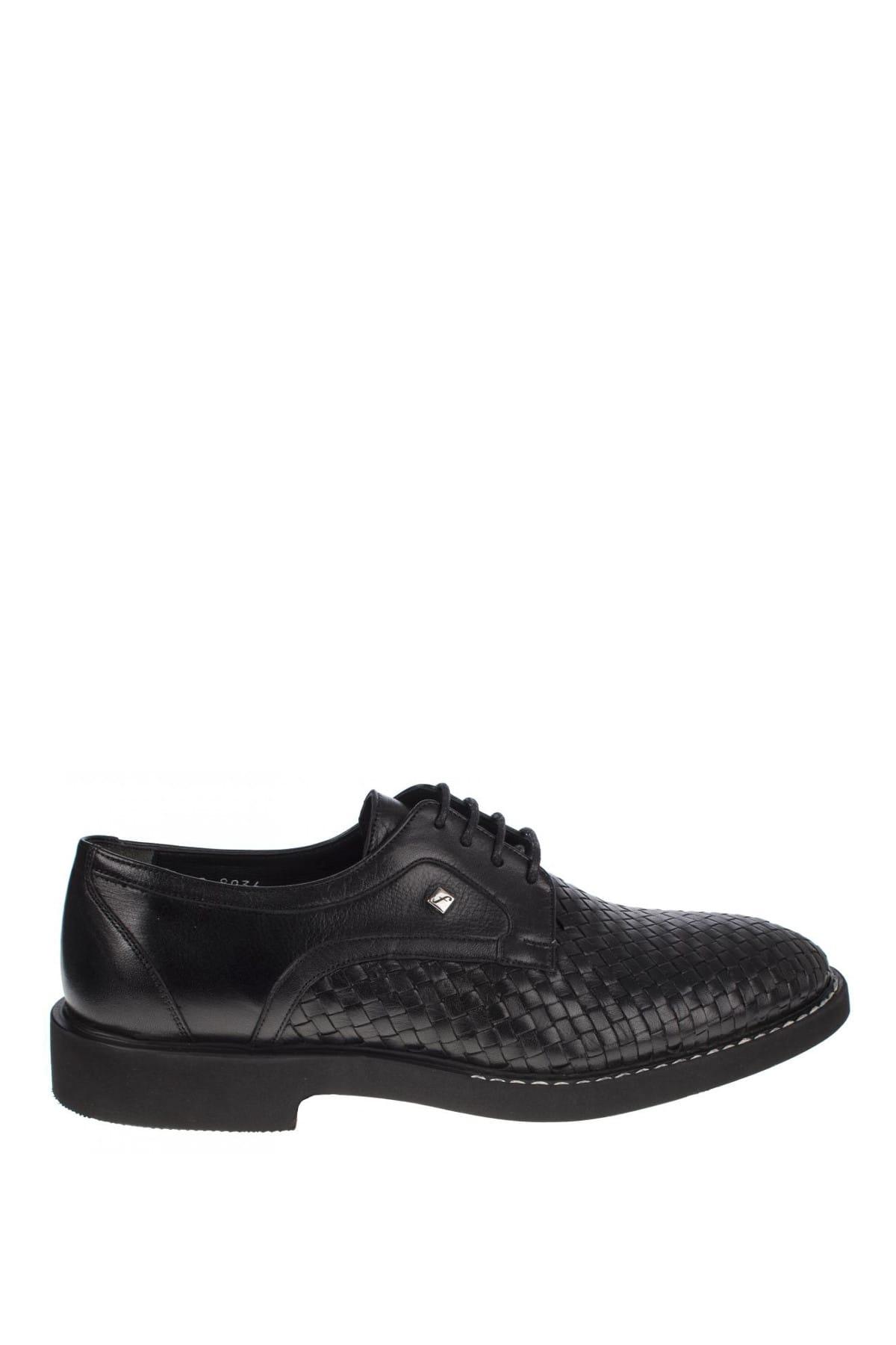 Fosco Hakiki Deri Siyah Erkek Ayakkabı 248 9036M 2