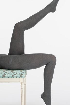 THERMOFORM Grı Kadın Pamuklu Külotlu Çorap