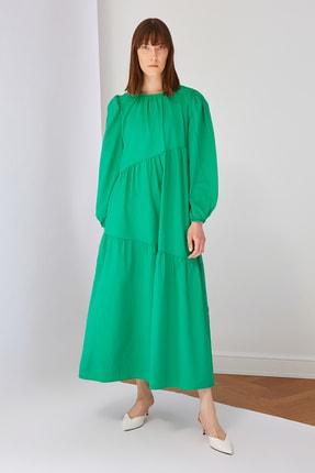 Trendyol Modest Yeşil Pamuk Poplin Elbise TCTSS21EL3470
