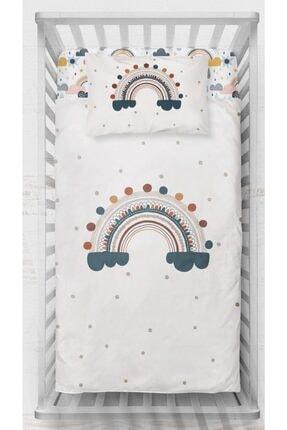 Neym Design Gökkuşağı Temalı Bebek Boy Pamuk Saten Nevresim Takımı