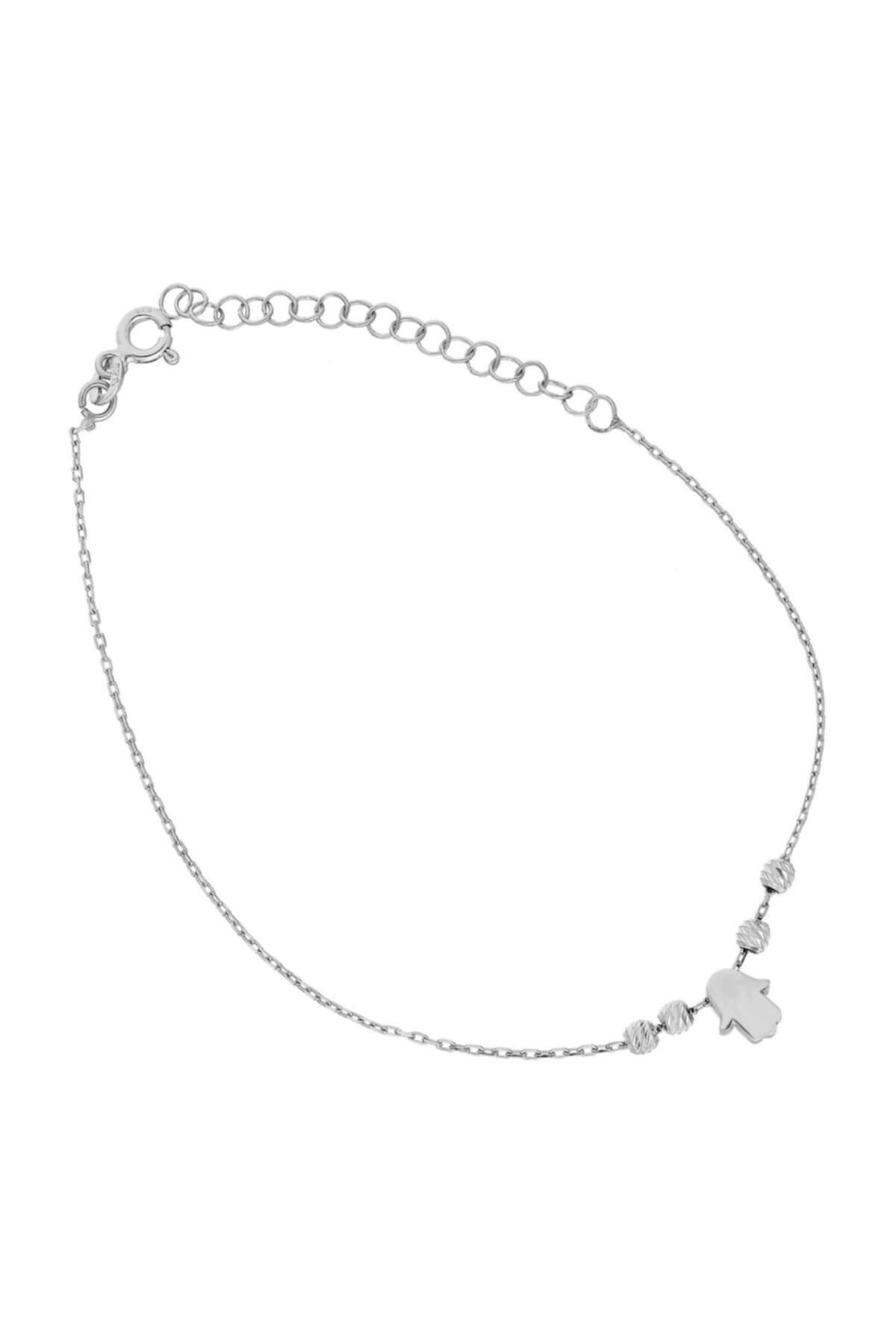 Glorria Kadın Gümüş Fatmanın Eli Halhal DT0531 1