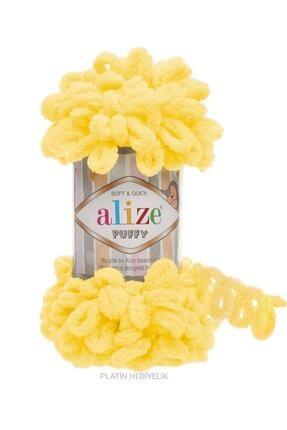 Alize ( 5 Adet ) Puffy 216 Sarı El Örgü Iplikleri Panduf Battaniye Ipi Atkı Hırka Paspas Ipliği