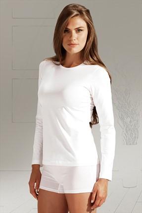 Penyemood Kadın Beyaz Uzun Kol Atlet 4020