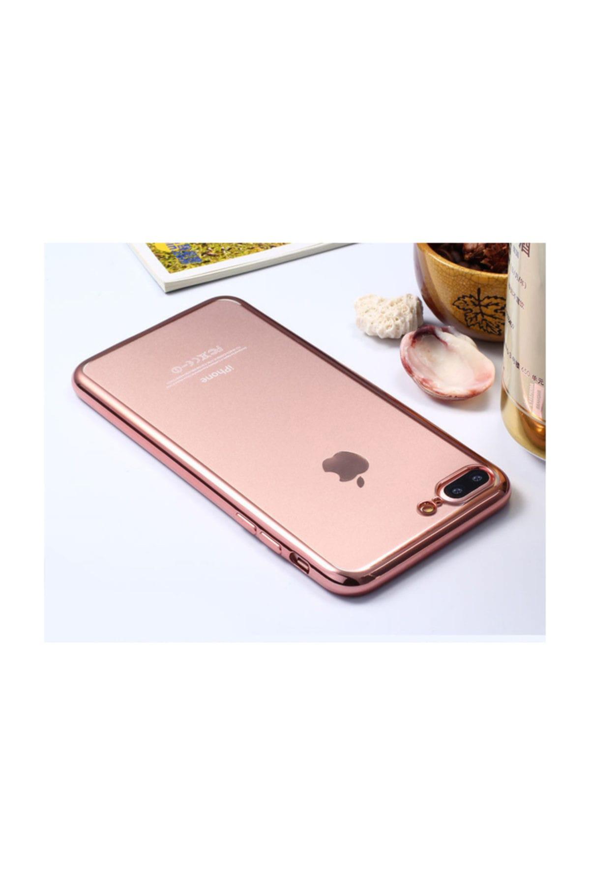 Microsonic Apple iPhone 7 Kılıf Flexi Delux Rose Gold 2