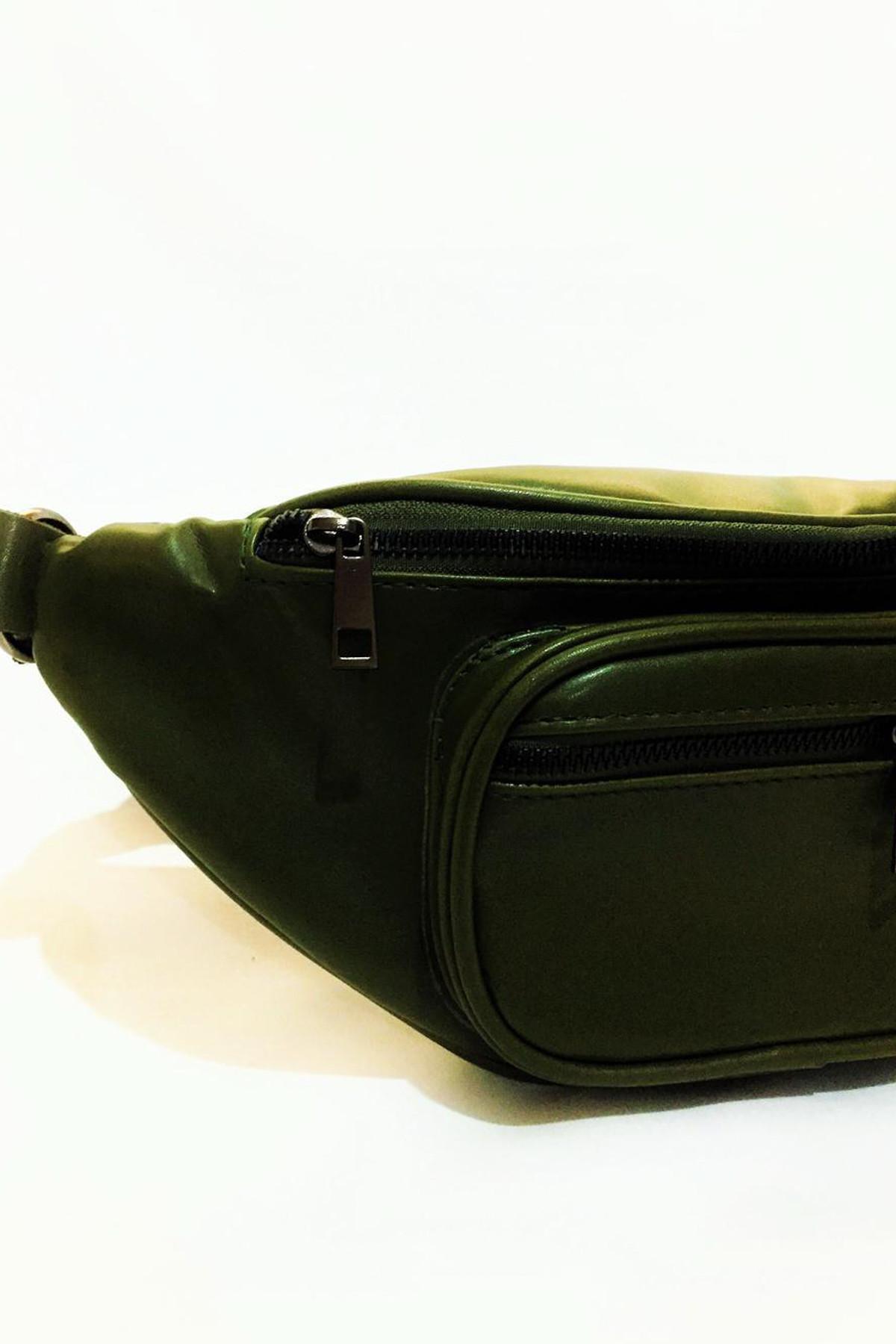Dr. Stone Marka Kadın Yeşil Rengi Deri Bel Çantası Xybdr66 2