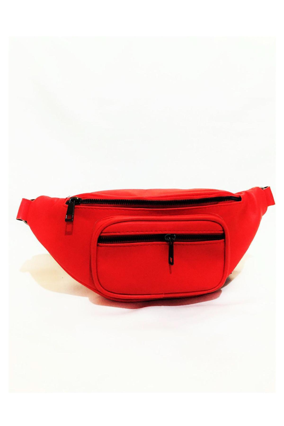 Dr. Stone Marka Kadın Kırmızı Rengi Deri Bel Çantası Xybdr59 2