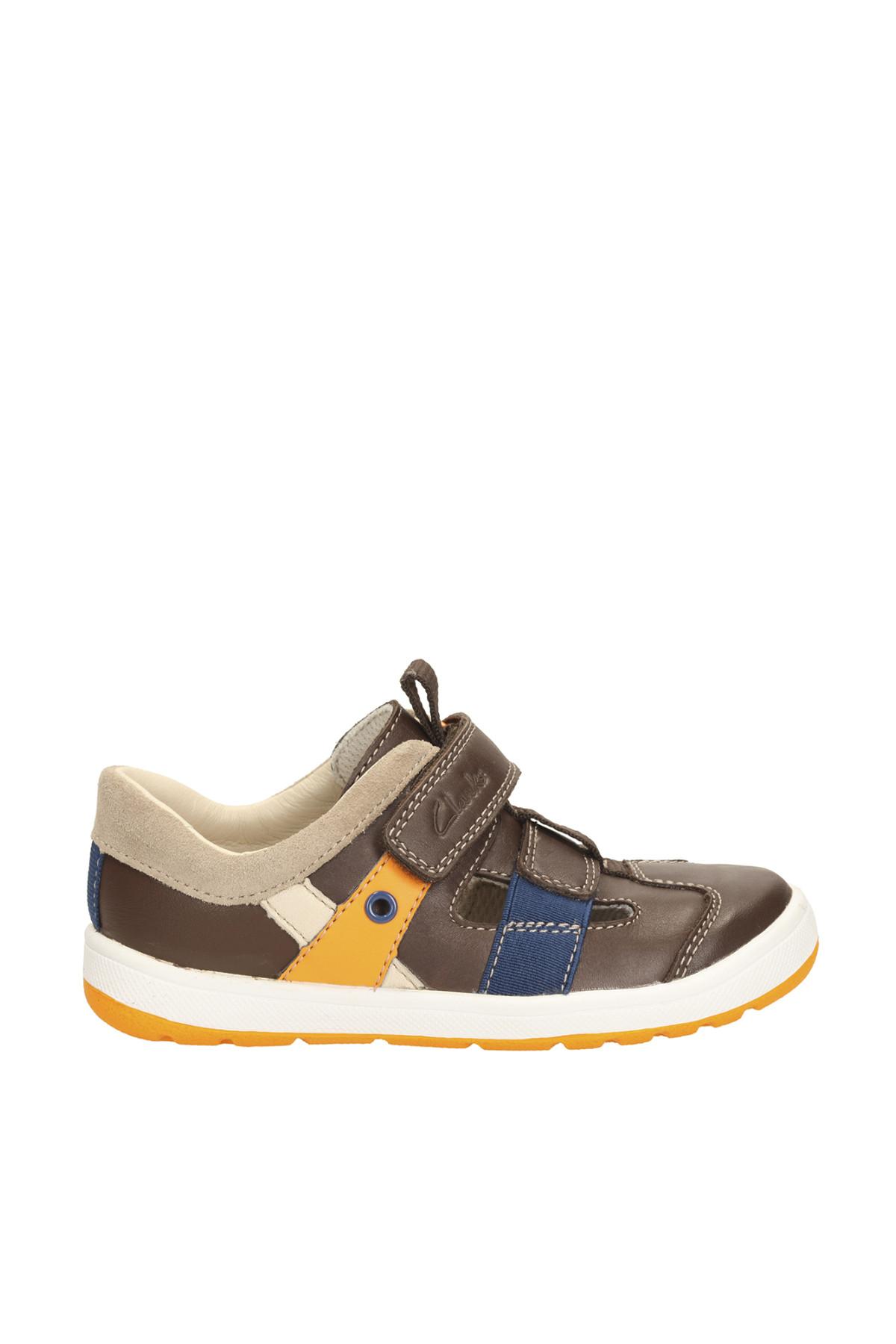 CLARKS Hakiki Deri Kahverengi Çocuk Ayakkabı 261147507 2
